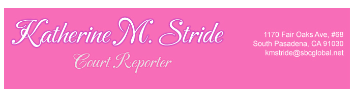 Katherine M. Stride, Official US Court Reporter
